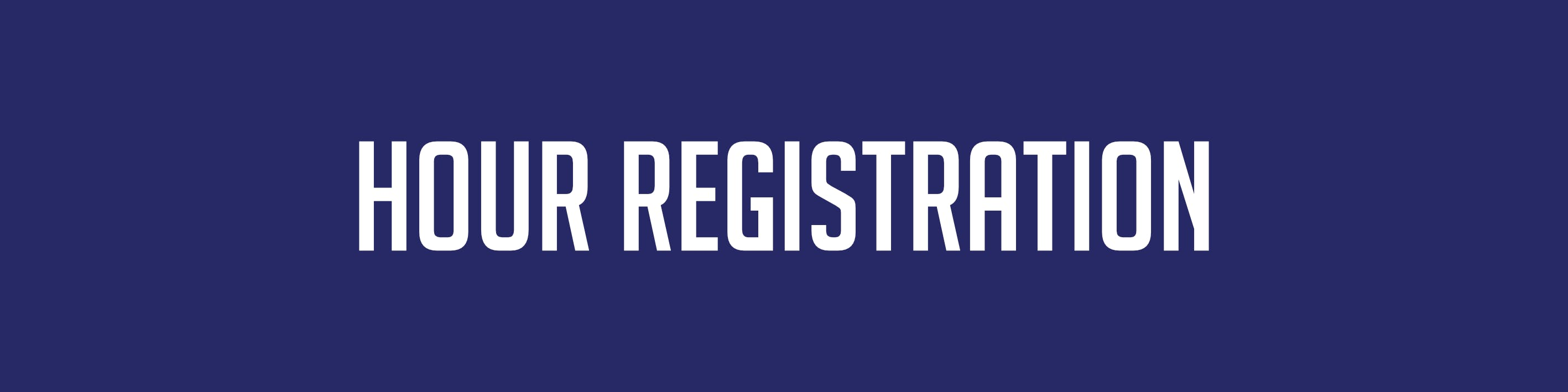 Hour Registration
